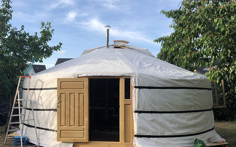 a Mongolian yurt cover